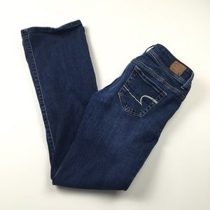 AEO Original Boot Stretch Dark Wash Jeans Size 4